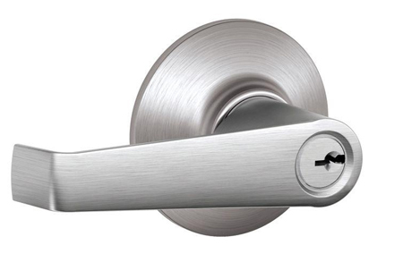 Satin nickel door handle, chrome plated arhitectural fittings