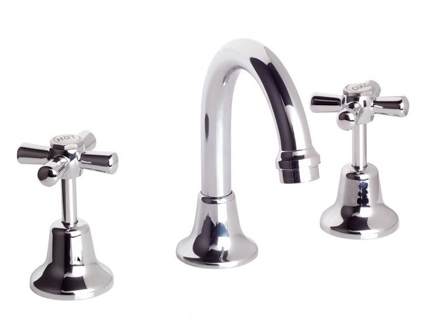 Chrome plated bathroom set