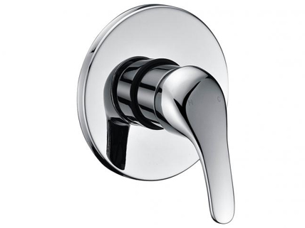 Chrome plated shower mixer