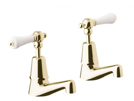 Gold plated bathroom set